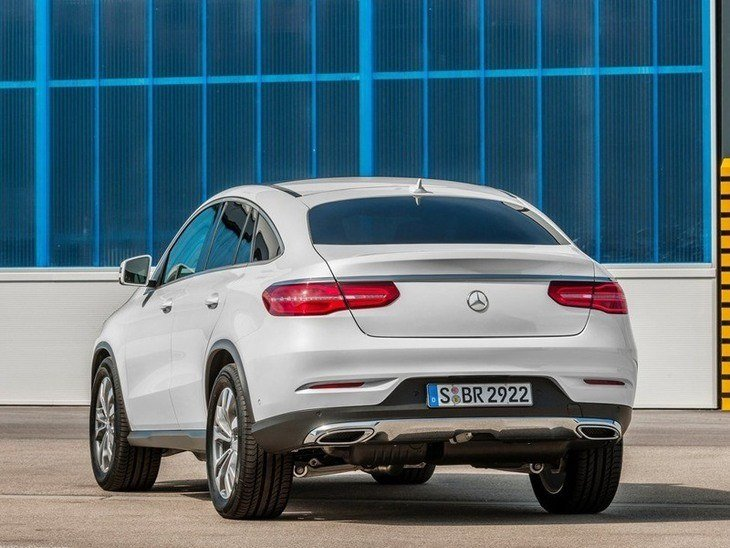Mercedes Benz GLE Coupe Exterior White Back