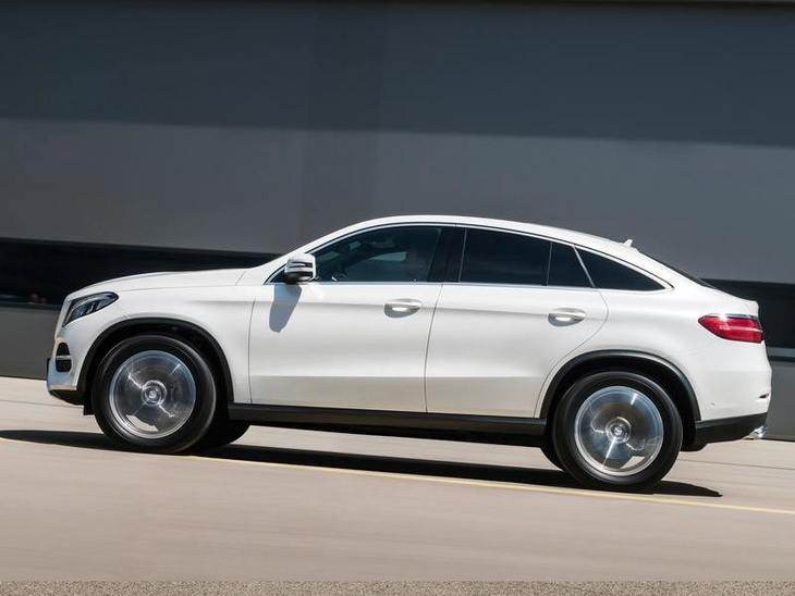 Mercedes Benz GLE Coupe Exterior White Side