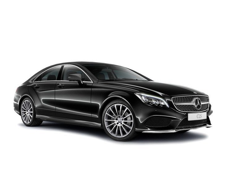 mercedes cls coupe black front