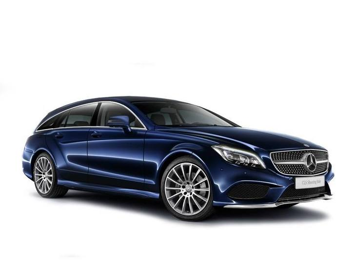 Mercedes cls shooting brake blue front