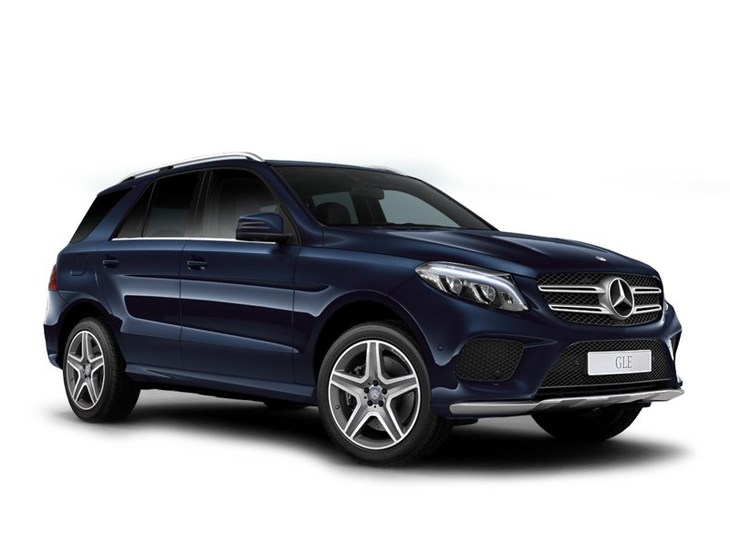mercedes gle class suv blue front