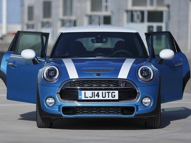 Mini Hatchback 5 Door Blue Exterior Front 2