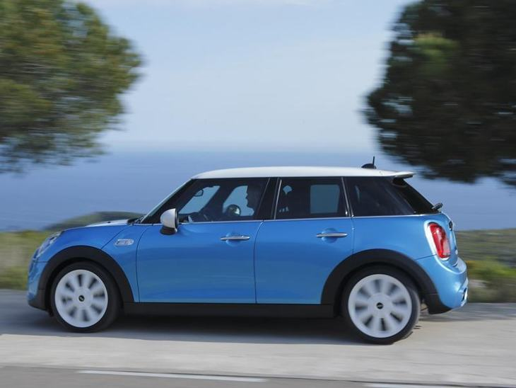 Mini Hatchback 5 Door Blue Exterior Side