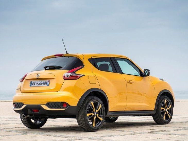 Nissan Juke Yellow Exterior Back