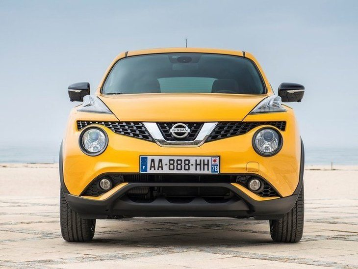 Nissan Juke Yellow Exterior Front