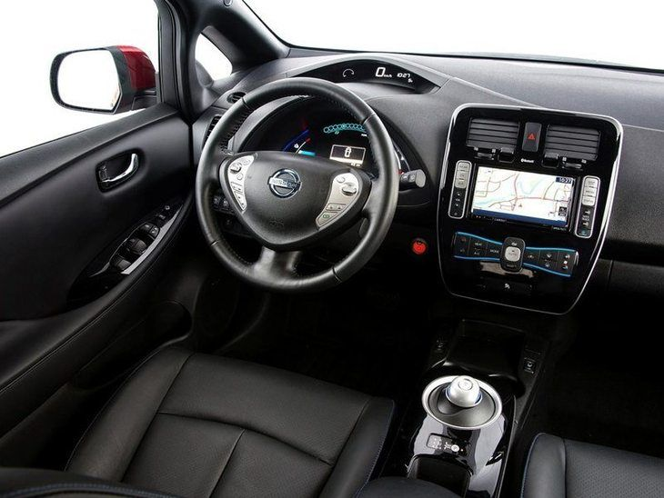 Nissan Leaf Black Interior