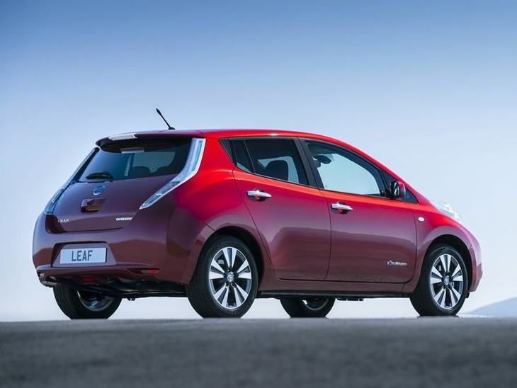 Nissan Leaf Red Exterior Back