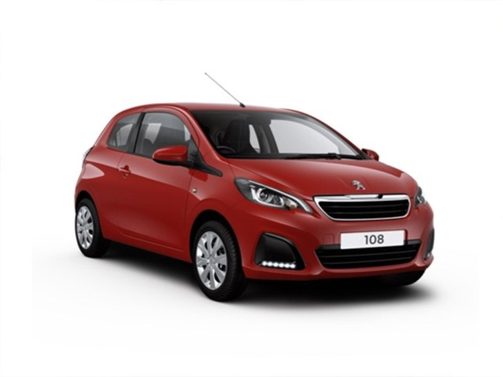peugeot 108 1 0 active 3 door car leasing nationwide vehicle contracts. Black Bedroom Furniture Sets. Home Design Ideas