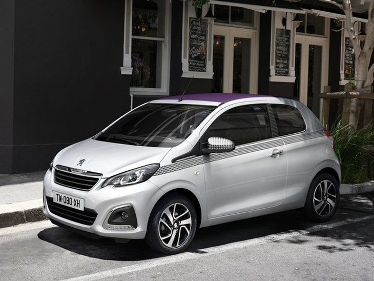 Peugeot 108 White Exterior Front