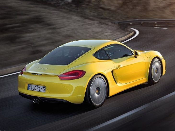 Porsche Cayman Yellow Exterior Back 2