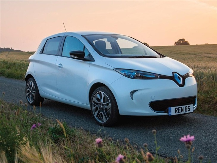 Renault Zoe White Exterior Front