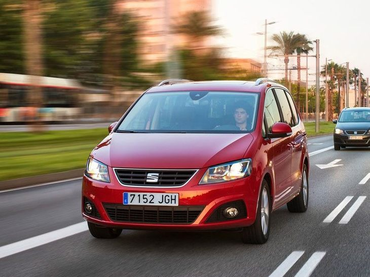 Seat Alhmbra Red Exterior Front 4