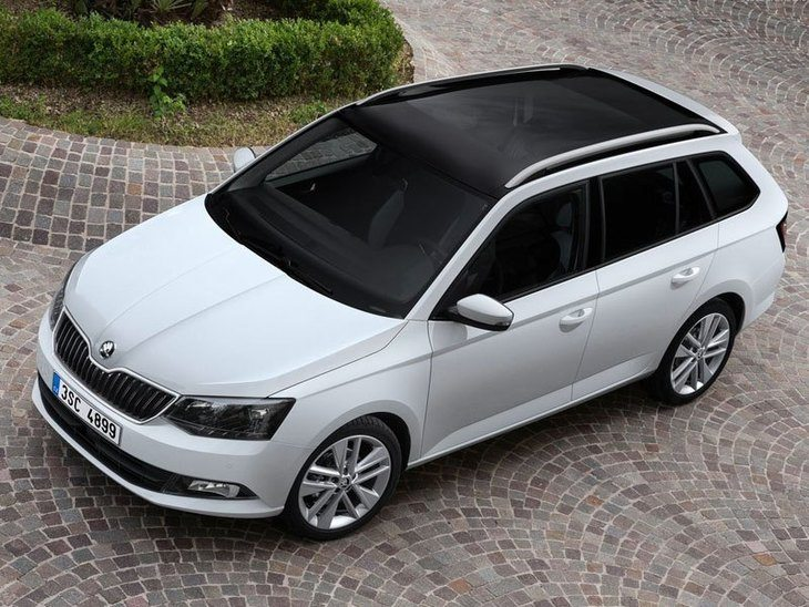 Skoda Fabia Estate White Exterior Top