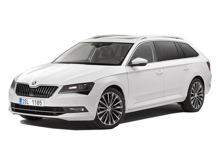 Skoda Superb Estate White Exterior Front