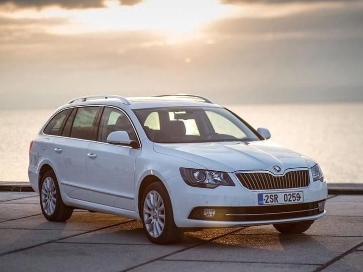 Skoda Superb  Estate Exterior White Front