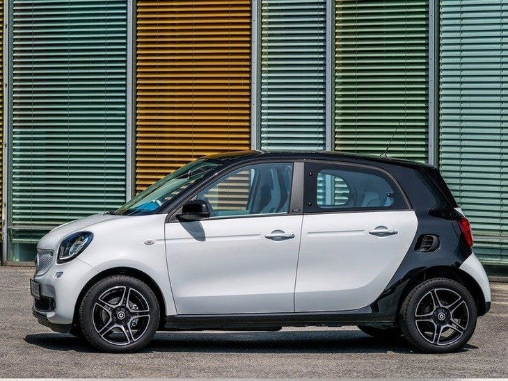 Smart Forfour Hatchback White Exterior Side