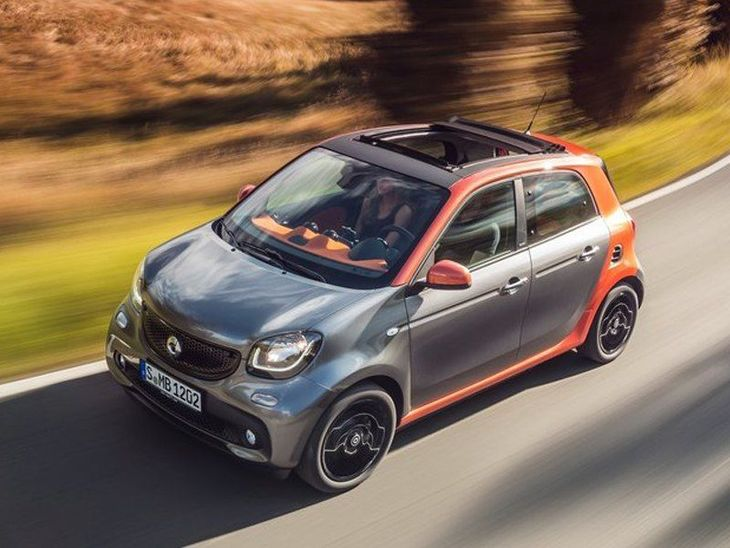 Smart Forfour Night Sky Hatchback Grey Exterior Top 2