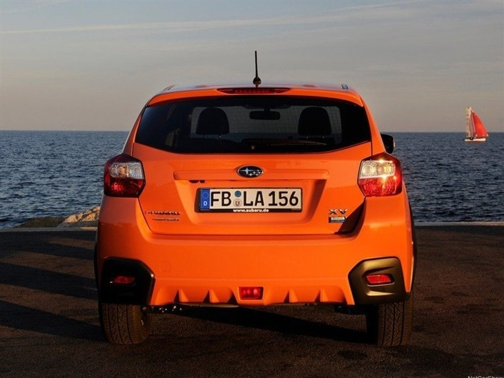 Subaru XV Orange Exterior Back 2