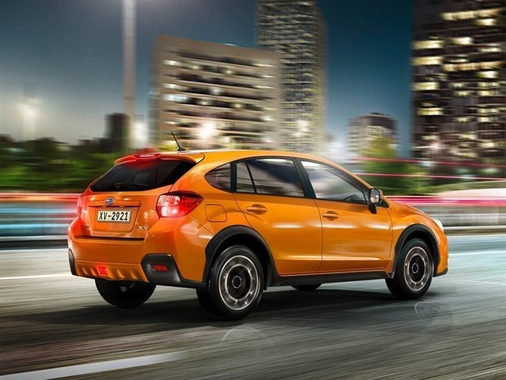 Subaru XV Orange Exterior Back