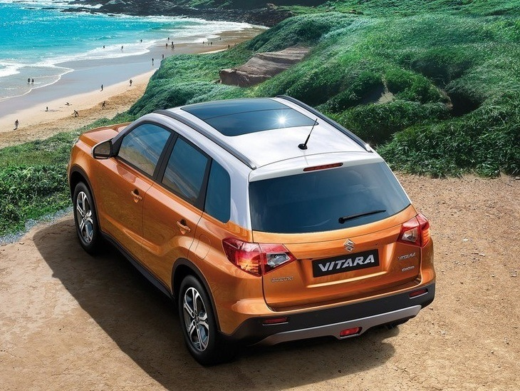 Suzuki Vitara Orange Exterior Back