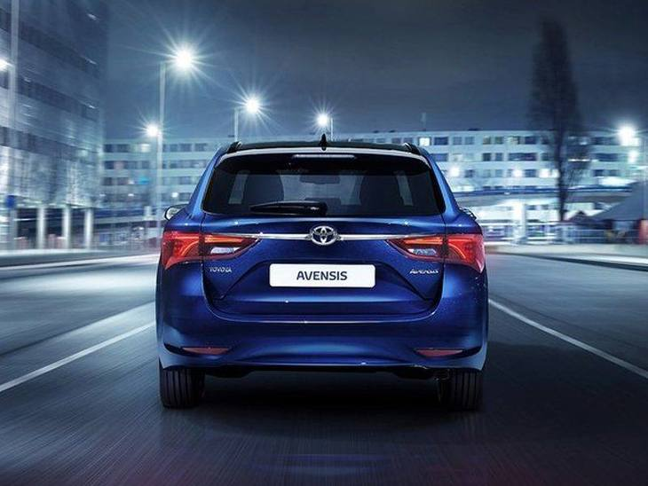 Toyota Avensis New Model Blue Exterior Back