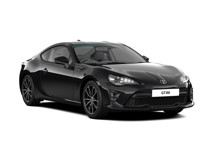 black toyota gt86 car lease on white background
