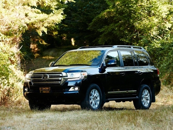 Toyota Land Cruiser Black Exterior Front