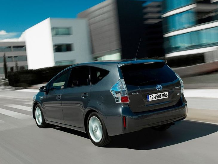 Toyota Prius Plus Grey Exterior Back