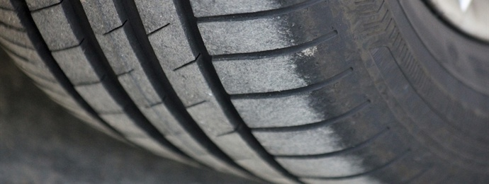 a picture of worn tyres