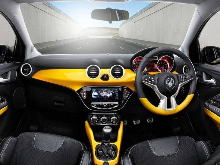 Vauxhall Adam Yellow Interior