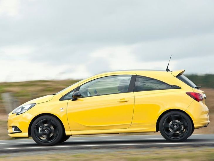 Vauxhall Corsa 3-Door Yellow Exterior Side2