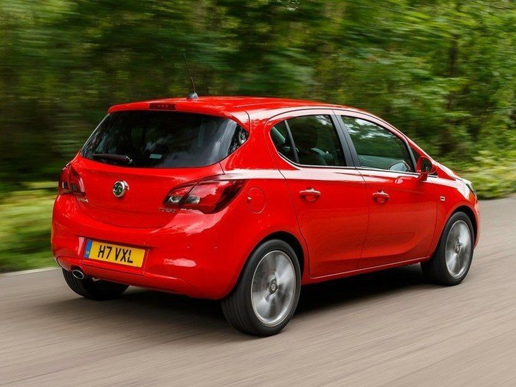 Vauxhall Corsa 5-Door Red Exterior Back