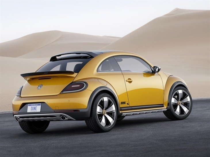 Volkswagen Beetle Yellow Exterior Back 2