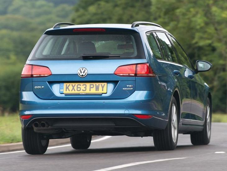 Volkswagen Golf Estate Blue Exterior Back 2