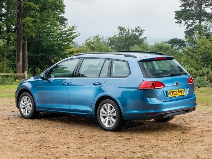 Volkswagen Golf Estate Blue Exterior Back
