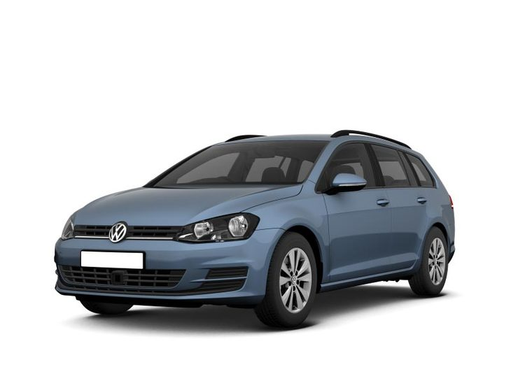 Volkswagen Golf Estate blue Front