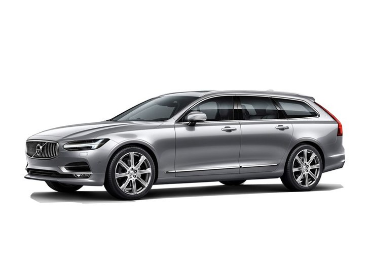 Volvo V90 Exterior Silver Front Main