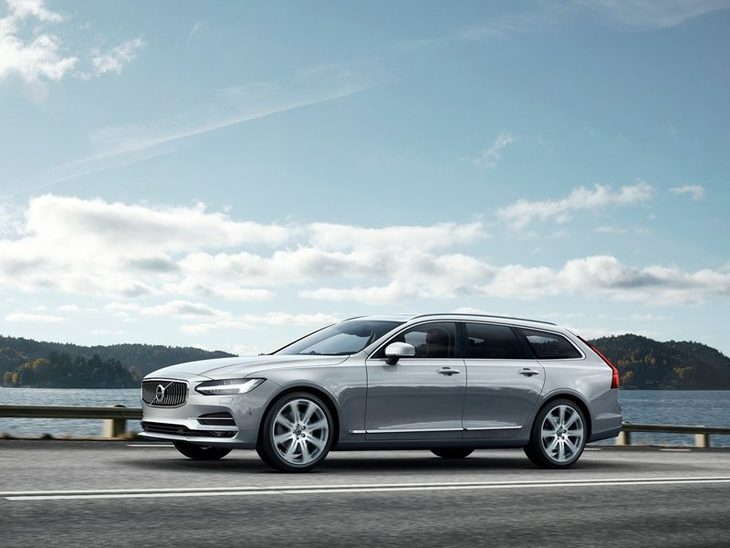 Volvo V90 Exterior Silver Front