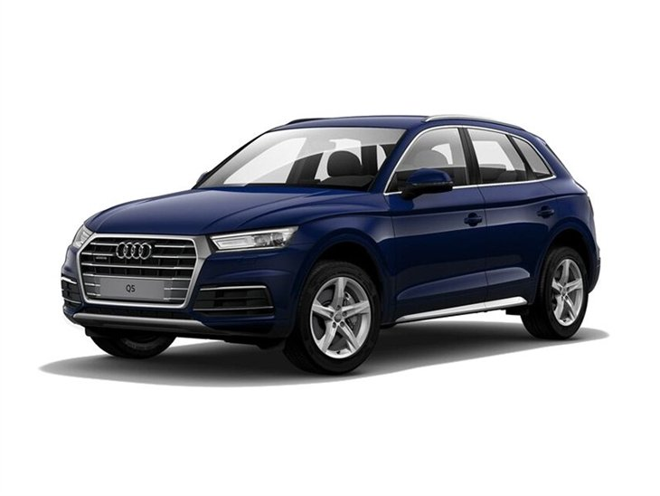 blue audi q5 sport with white background  available to lease