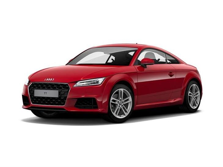 Audi TT Coupe Model Year 2019 Sport in Red Front Left View