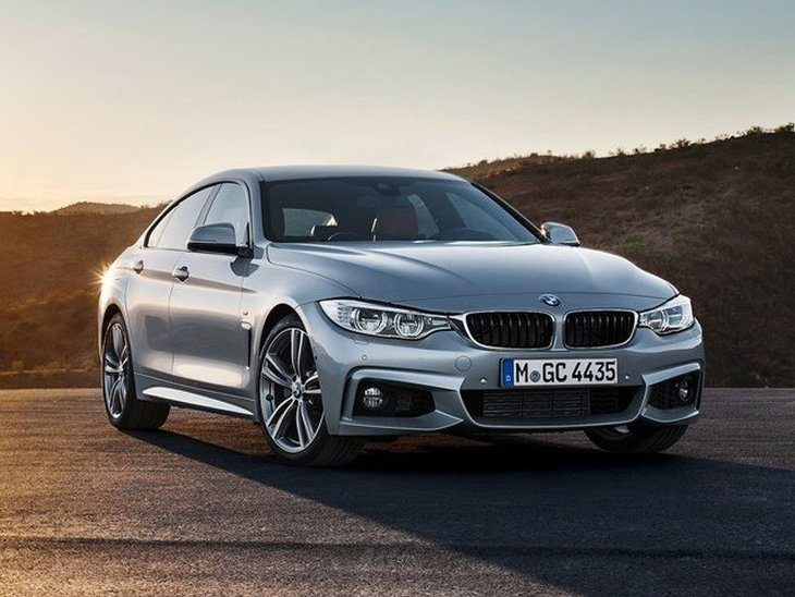 BMW 4 Series Gran Coupe Silver Front 2
