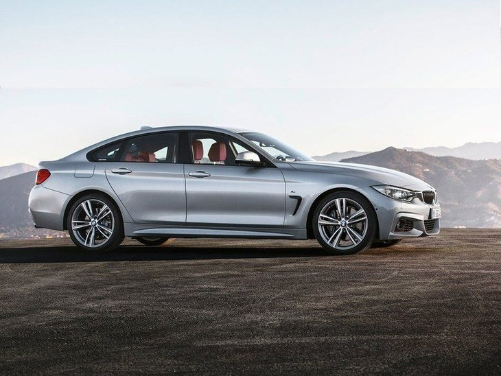 BMW 4 Series Gran Coupe Silver Side