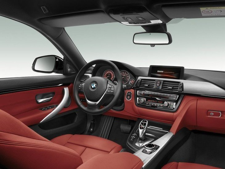 BMW 4 Series Gran Coupe Red Front 2