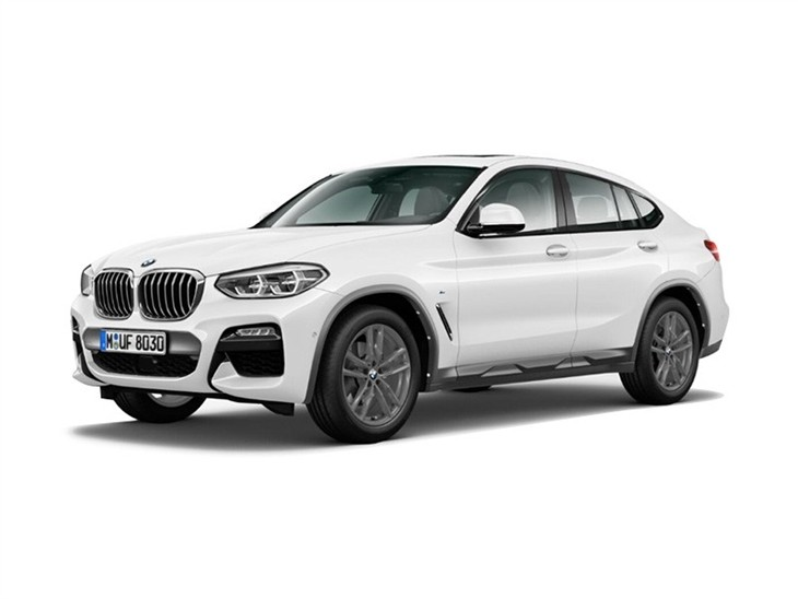 BMW X4 2019 M Sport X in white front left view
