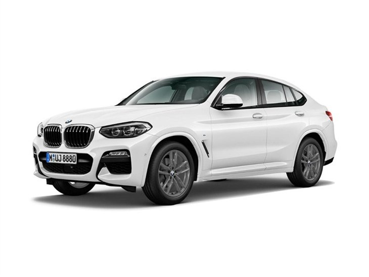 BMW X4 2019 M Sport in white front left view