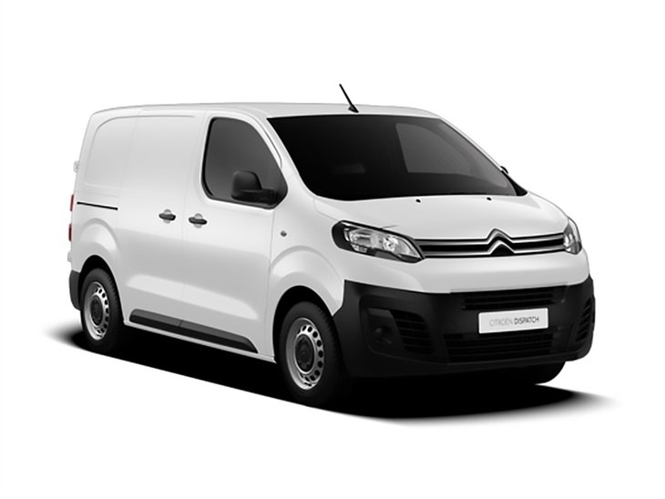 white citroen dispatch enterprise xs van on white background available to lease