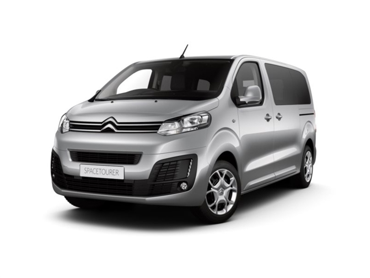 silver citroen space tourer feel van on white background available to lease
