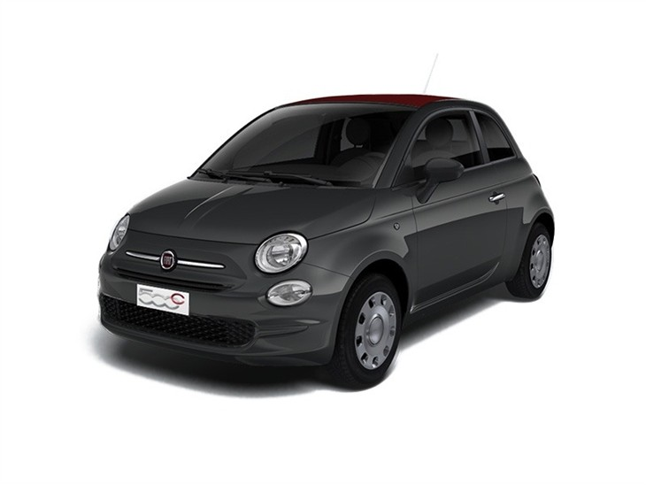 grey fiat 500c pop car on white background available to lease