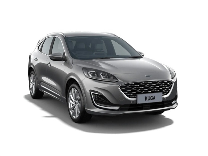 silver ford kuga vignale 2020 car on white background available to lease