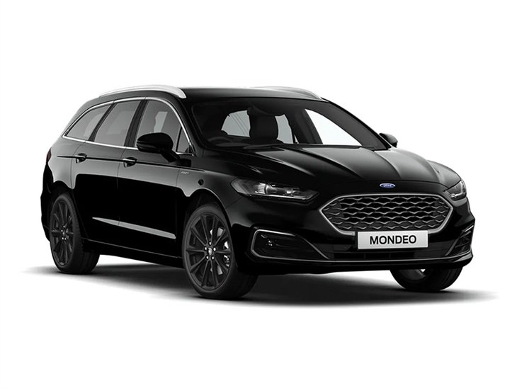 black ford mondeo estate viganale 2019 car on white background available to lease